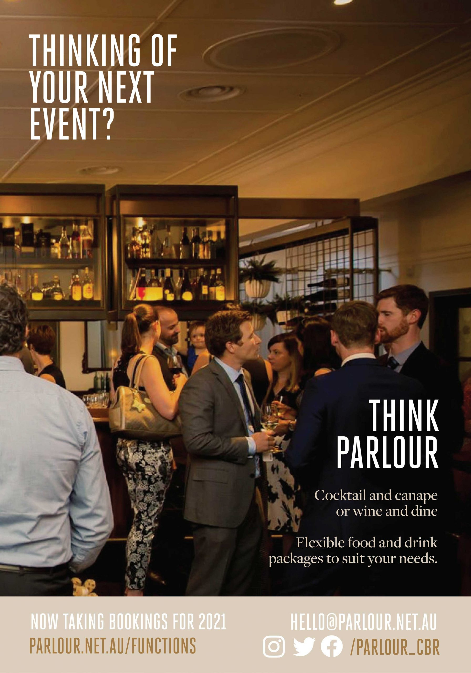 Bring the team together, Entertain your clients - Functions at Parlour